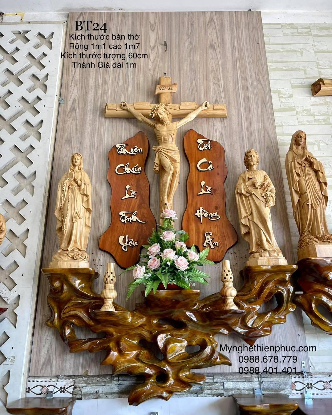 #01 Bộ Bàn Thờ Công Giáo