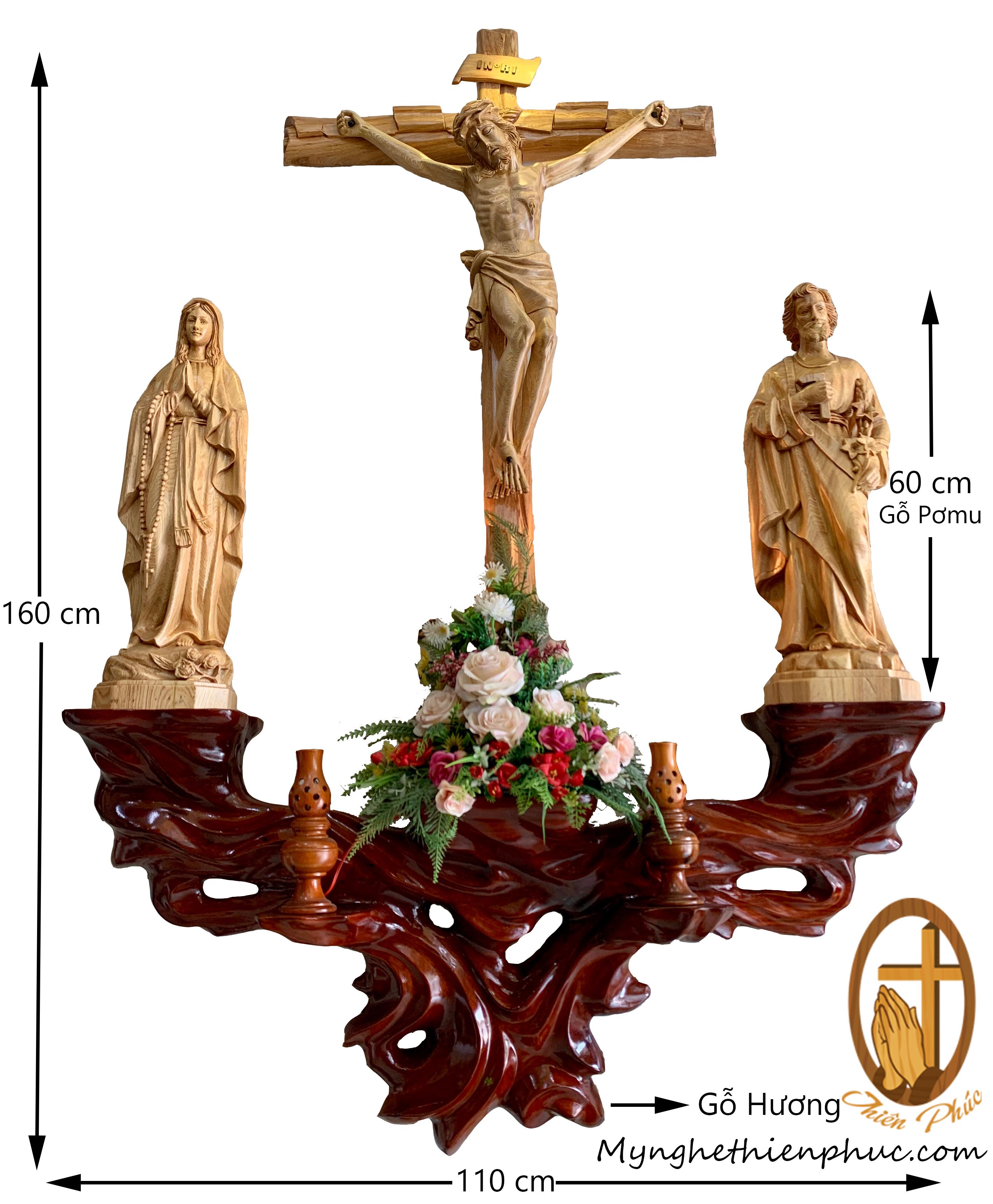 Bộ bàn thờ công giáo BT10
