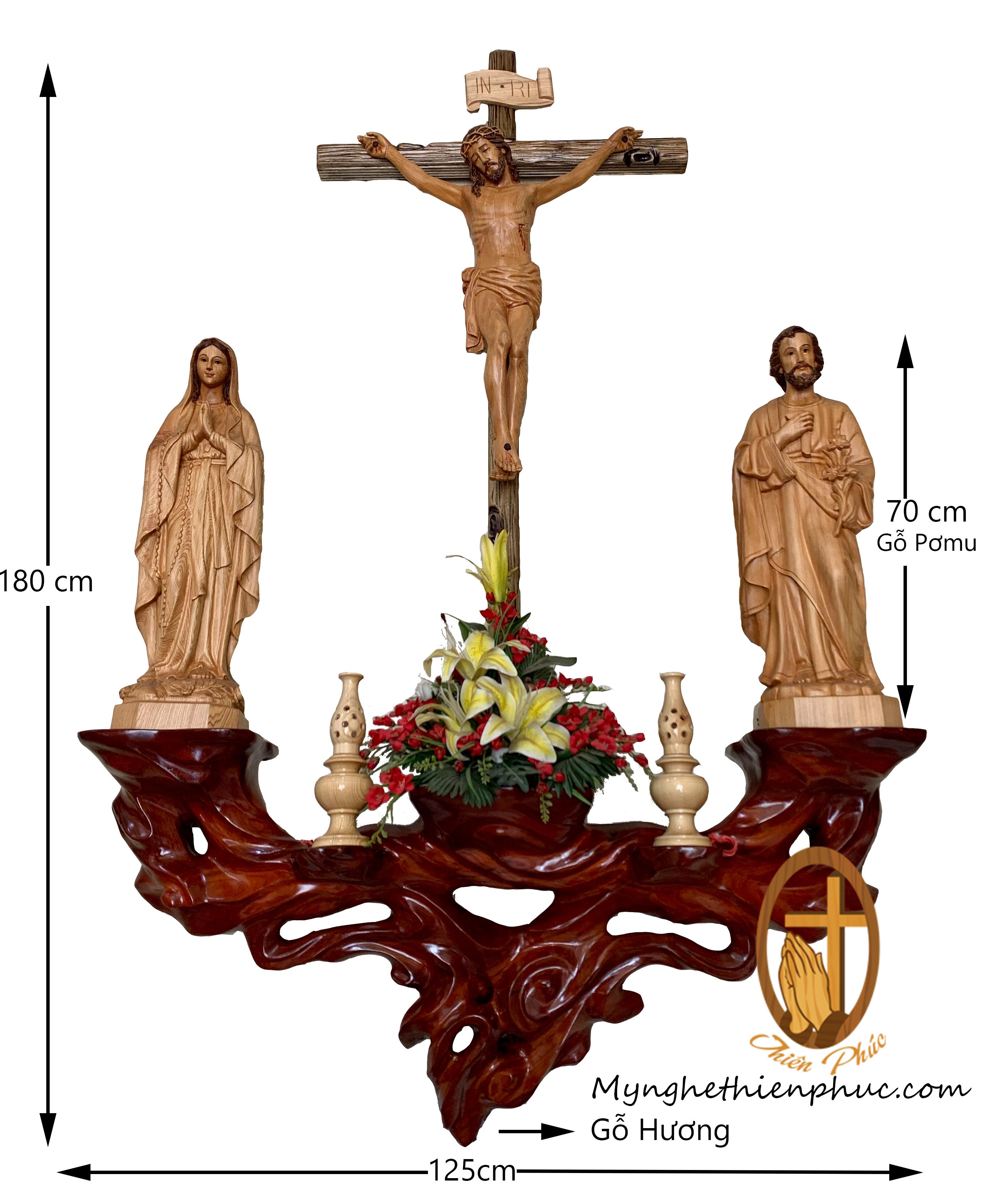 Bộ bàn thờ công giáo DT1010