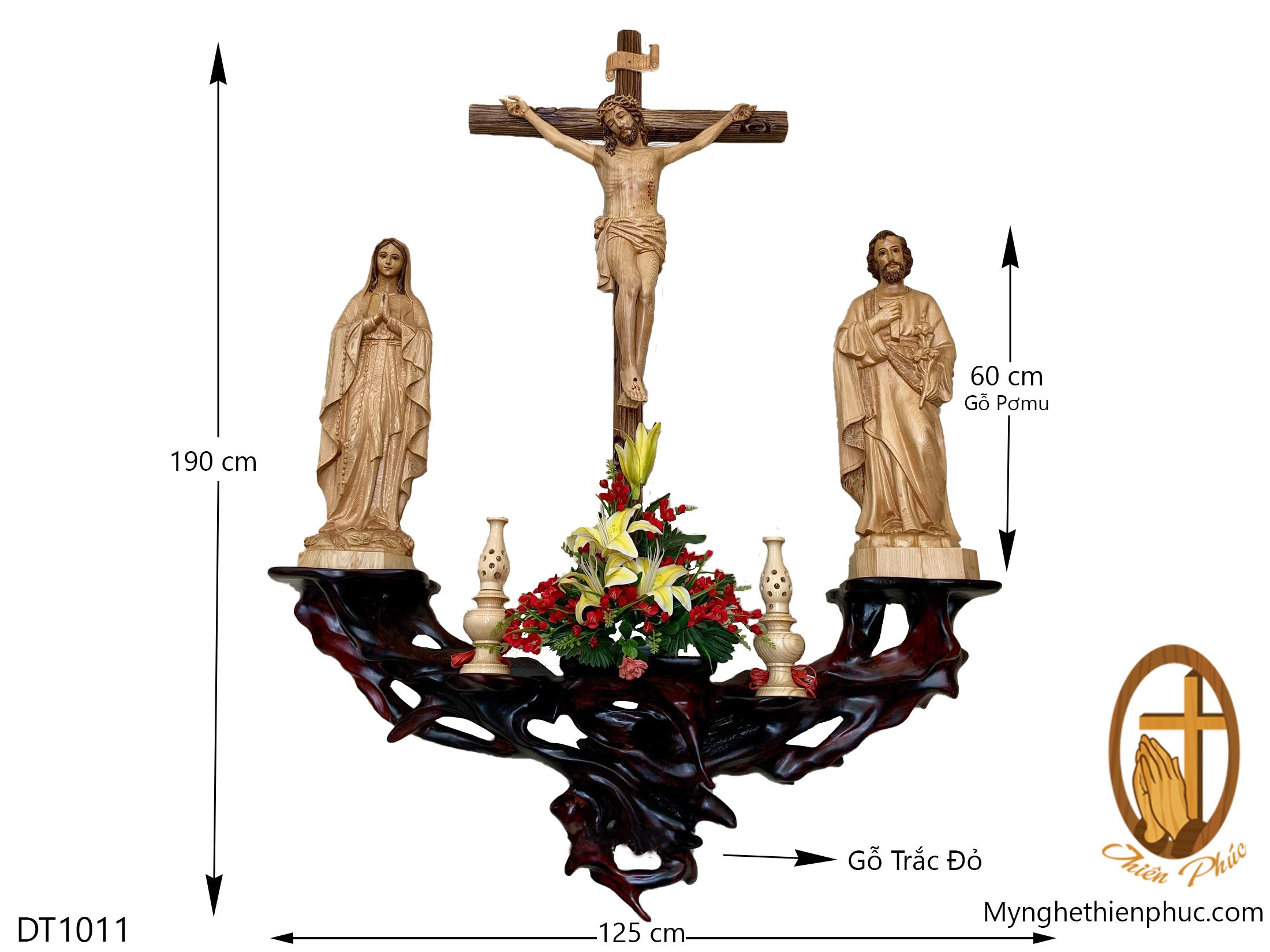 Bộ bàn thờ công giáo DT1011