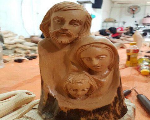 Tượng gỗ gia đình thánh gia
