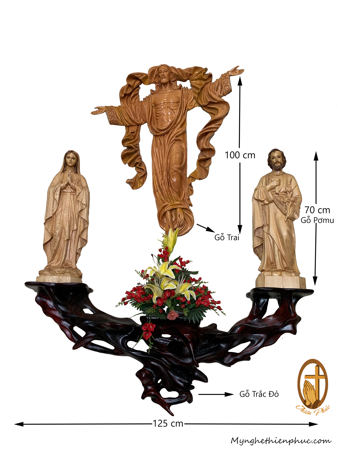 Bộ bàn thờ công giáo DT1012